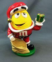 Distributeur de bonbons M&M\'s - Jaune Père Noël