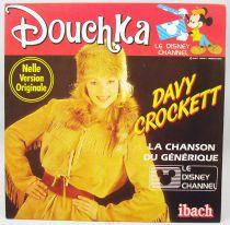 Douchka - Disque 45Tours - Davy Crockett - Walt Disney Prod. 1985