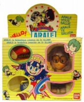 Dr Slump - Arale with internal mechanism - Bandai 6\'\' doll Mint in Box