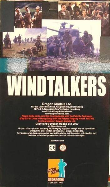Dragon Models - CORPORAL JOE ENDERS (Nicolas Cage) WINDTALKERS