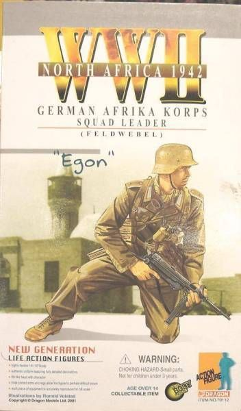 Dragon Models - EGON  German Afrika Korps squad leader (Feldwebel) North Africa 1942
