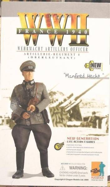Dragon Models - MANFRED HECHT Wehrmacht Artillery Officer Artillerie Regiment 4 (Oberleutnant) France 1940