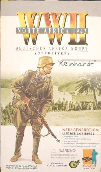 Dragon Models - REINHARDT  Deutsh Afrika Corp Gefreiter North Africa 1942