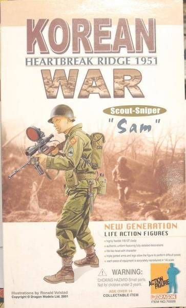 Dragon Models - SAM Korean War Scout Sniper Heartbreak Ridge 1951