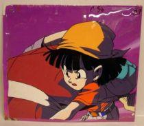 Dragonball GT - Toei Animation Original Celluloid - Pan (holding Mr. Satan)
