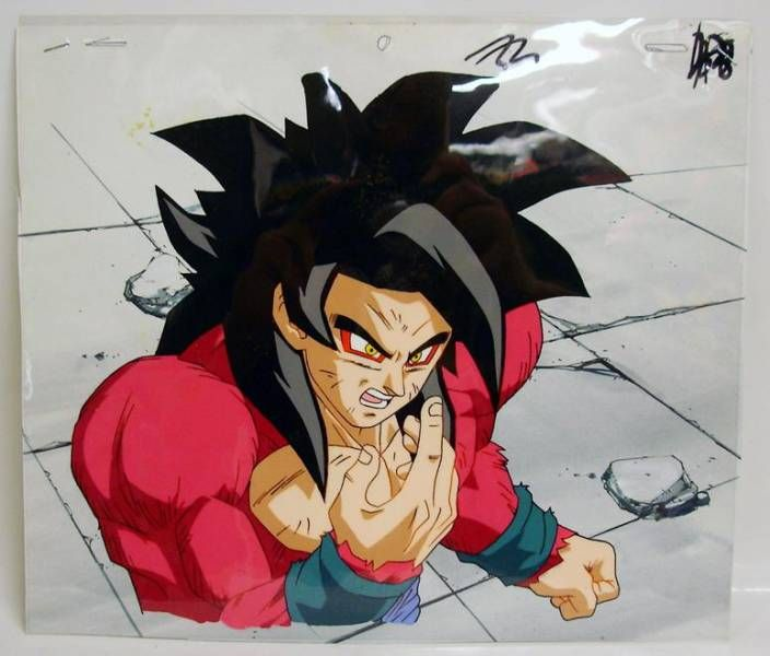Dragonball GT - Toei Animation Original Celluloid - SS4 Goku