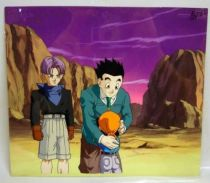 Dragonball GT - Toei Animation Original Celluloid - Trunks, Gohan & Pan