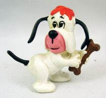 Droopy - Schleich 1981 - Droopy with bone pvc figure