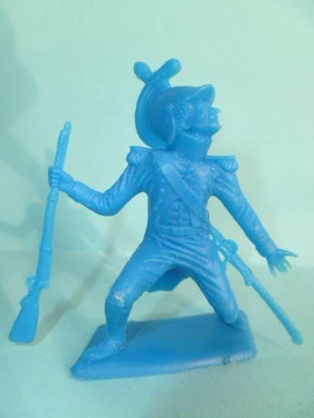 Dulcop - Figurine Plastique Souple 55mm - Empire - Dragon blessè (bleu)