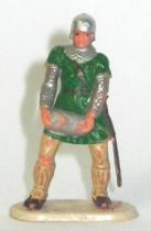 Elastolin - 40mm Historex - Middle age - Trooper footed catapulte servant with stone (green) (ref 8836 4)