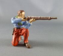 Elastolin - Cow-Boys - Footed kneeling firing rifle (ref 6964)
