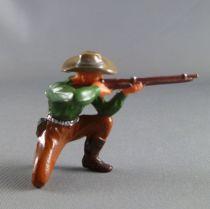 Elastolin - Cow-Boys - Piéton tireur genoux fusil (vert) (réf 6964)