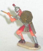 Elastolin - Historex 40mm - Romans - Footed fighting defending pilum (ref 8422-4)