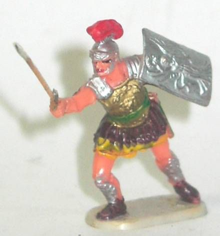 Elastolin - Historex 40mm - Romans - Footed officer attacking sword (ref 8424-4)