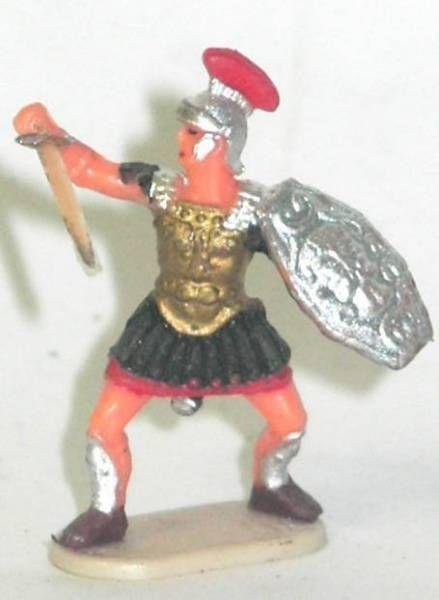Elastolin - Historex 40mm - Romans - Footed officer defending sword (ref 8425-4)