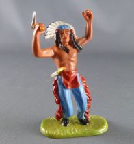 Elastolin - Iindians - Footed chief raising tomahawk (ref 6810)