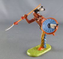 Elastolin - Iindians - Footed running with shield & spear (ref 6827)
