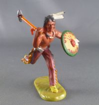 Elastolin - Iindians - Footed running with shield & stone axe (ref 6827)