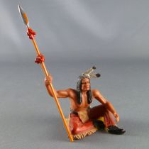 Elastolin - Indians - Footed seated with spear (ref 6835)
