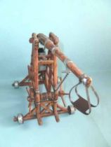 Elastolin - Middle age - Accessories - Catapult with arm (large size) mint in box (ref 9892)