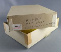 Elastolin - Middle age - Empty box for 1 Mounted striking with lance cape rond shield ref 8867