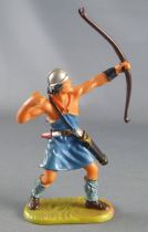 Elastolin - Middle age - Footed Archer shooting up (blue outfif) (ref 8644)