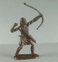 Elastolin - Middle age - Footed Archer shooting up (ref 8644) Soft plastic
