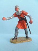 Elastolin - Middle age - Footed catapulte servant (orange) (ref 8835)