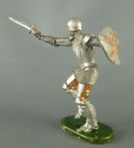 Elastolin - Moyen-�ge - Pi�ton Homme d\'arme attaquant �p�e r�f 8939 1