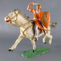 elastolin___moyen_age___homme_d_arme_cavalier_chargeant_epee_cheval_blanc_ref_8857_1