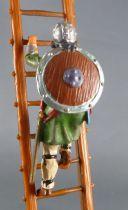 Elastolin - Moyen-âge - Piéton grimpeur à l\'échelle (vert) (réf 8832)