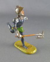 Elastolin - Moyen-âge - Pièton Homme d\'arme courant avec hache (réf 8941)