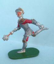 Elastolin - Moyen-âge - Pièton Homme d\'arme courant masse d\'arme (réf 8941)