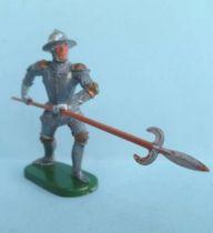 Elastolin - Moyen-âge - Pièton Homme d\'arme en armure attaquant pique (réf 8935)