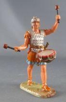 Elastolin - Romains - Piéton défilant tambour (réf 8406) Plumet cassé