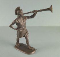 Elastolin - Romains - Piéton défilant trompette (réf 8404) plastique souple