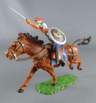 Elastolin - Romans - Mounted charging brown horse (ref 8459)