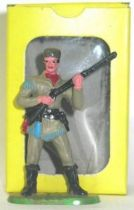Elastolin , trappers , footed mint in box rifle on chest (grey) (ref 6980)