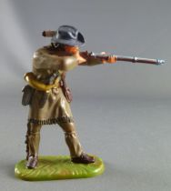 Elastolin - Trappers - Footed standing firing rifle (sand) (réf 6966)