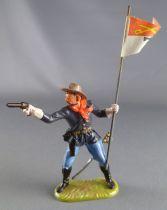 Elastolin - Us cavalry - Footed 7th regiment flag holder (ref 7024)