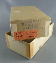 Elastolin - WW2 - Germans - Empty box for 3 Marching rifle on shoulder & backpack ref 10131