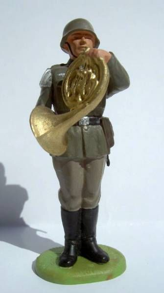 Elastolin - WW2 - Germans - Fanfare horn (ref 10253)