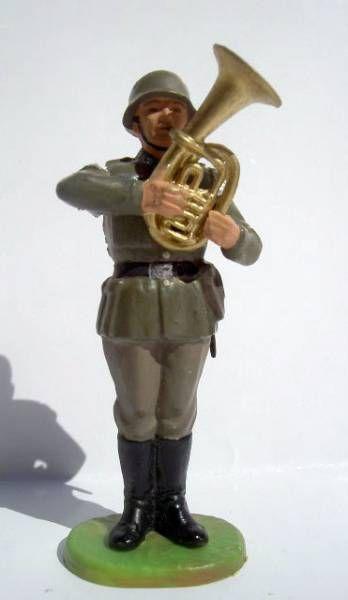 Elastolin - WW2 - Germans - Fanfare trombone (ref 10265)
