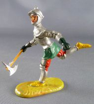 Elastolin - XV / XVIII century  - Swiss Guard Footed running with axe red pants (ref 8941)