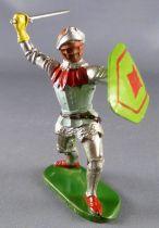 Elastolin - XV / XVIII century - Swiss Guard Footed striking with sword (ref  8931)