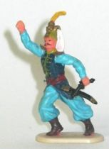 Elastolin Historex 40mm - turkish - footed with pistol and sabre (ref 9110 4)