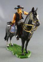 Elastolin Preiser - Cow-boys - Cavalier sheriff revolver (réf 6999)
