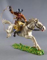 Elastolin Preiser - Cow-boys - Mounted with lasso (réf 6998)