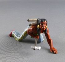 Elastolin Preiser - Indians - Footed crawling with axe (ref 6828)