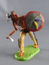 Elastolin Preiser - Indians - Footed with tomahawk & shield (ref 68324
